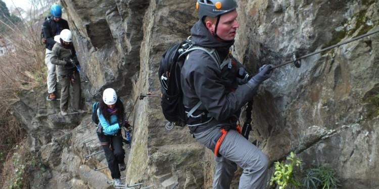 Abenteuer Mittelrhein Klettersteig Boppard