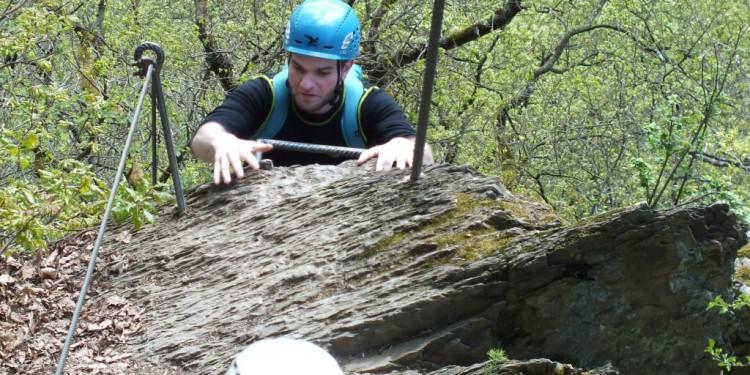 Klettersteig Kurs Mittelrhein - 14