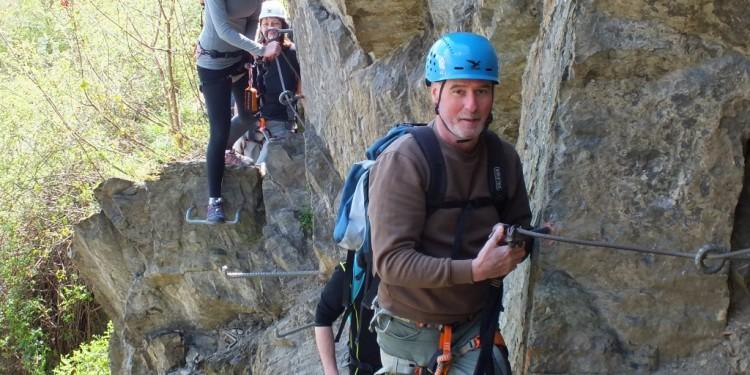 Klettersteig Kurs Mittelrhein - 27