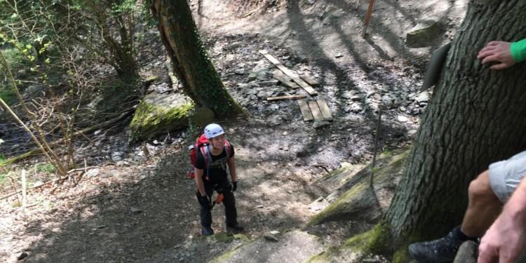 Mittelrhein Klettersteig Boppard Rhein Kletter Kurs - 09