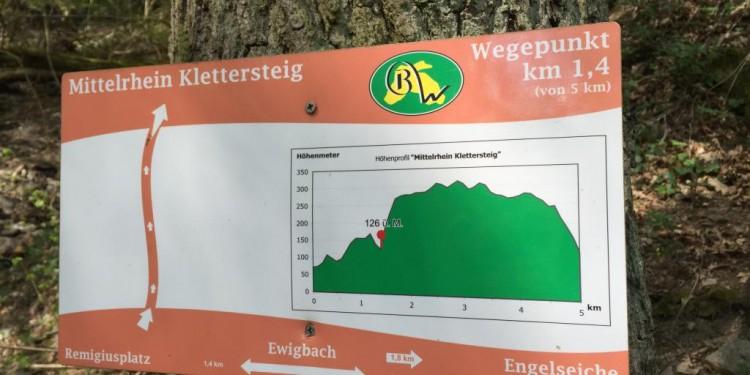 Mittelrhein Klettersteig Boppard Rhein Kletter Kurs - 15