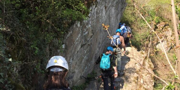 Mittelrhein Klettersteig Boppard Rhein Kletter Kurs - 19