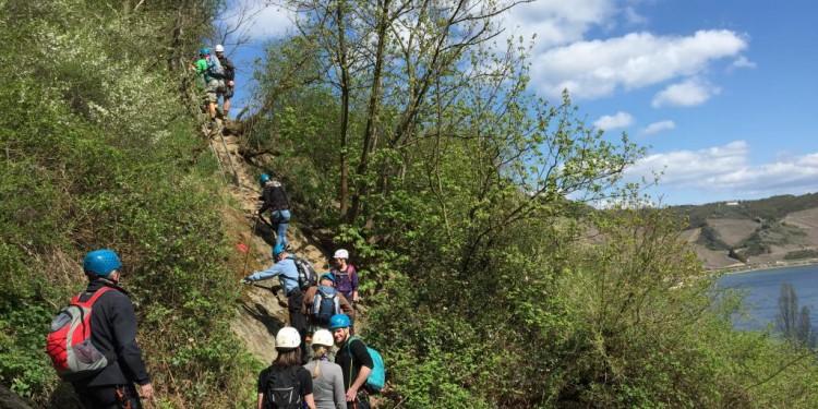 Mittelrhein Klettersteig Boppard Rhein Kletter Kurs - 20