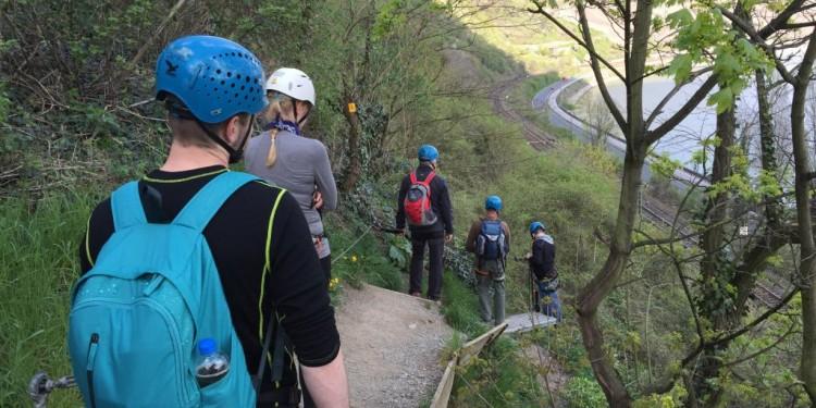 Mittelrhein Klettersteig Boppard Rhein Kletter Kurs - 21
