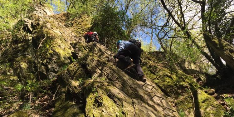 Mittelrhein Klettersteig Boppard Rhein Kletter Kurs - 27