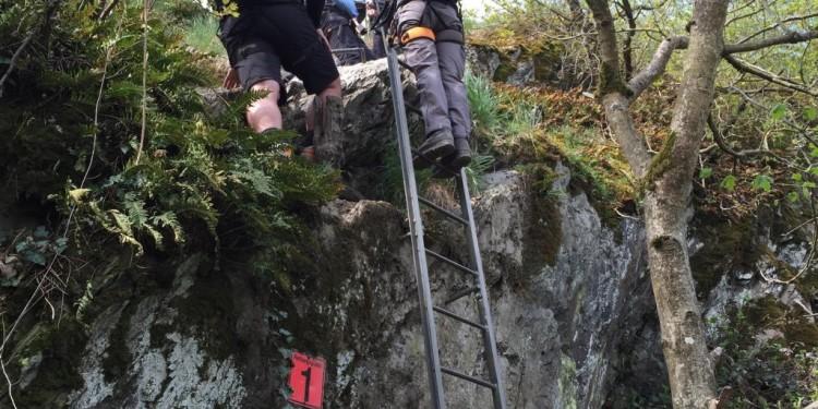 Mittelrhein Klettersteig Boppard Rhein Kletter Kurs - 37