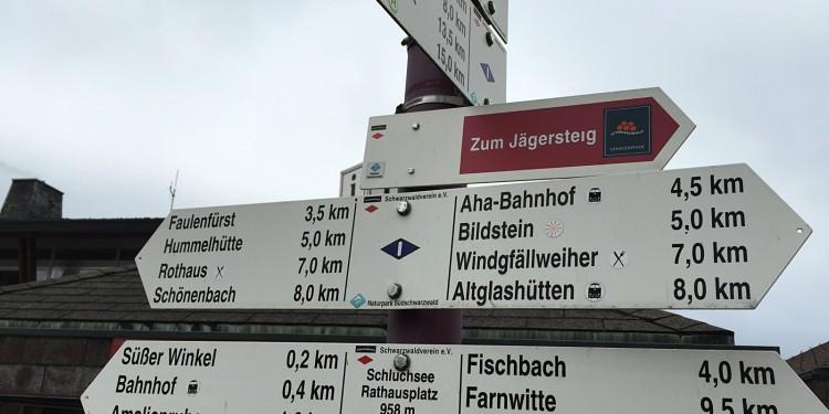 Bildstein Jaegersteig Schluchsee Schluchtensteig Schwarzwald - 01