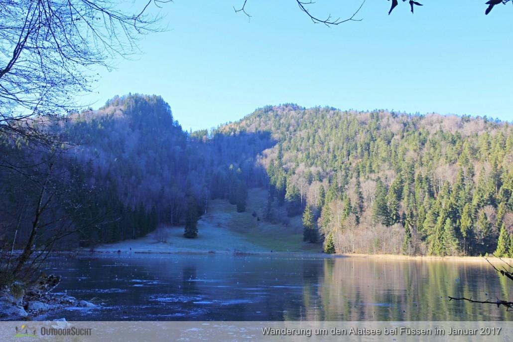 Blick über den See zur Falkenstein.