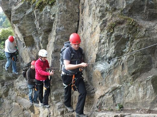 Abenteuer Klettersteig Boppard Rhein