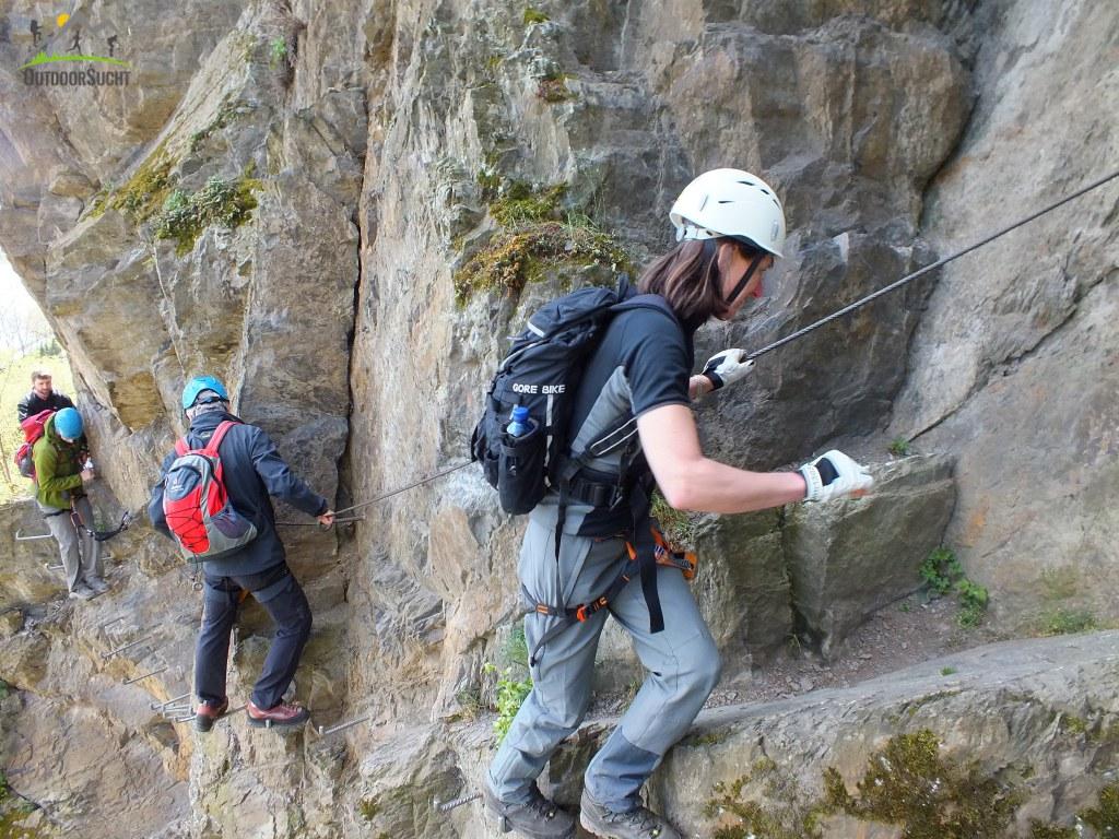 Klettersteig Rhein : Faszination am fels u kurs mittelrhein klettersteig outdoorsucht