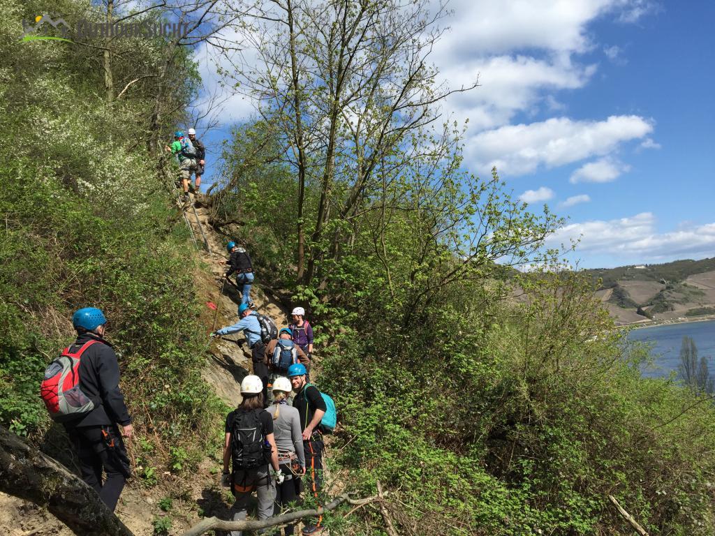 Klettersteig Boppard : Mittelrheinsteig klettersteig boppard foto