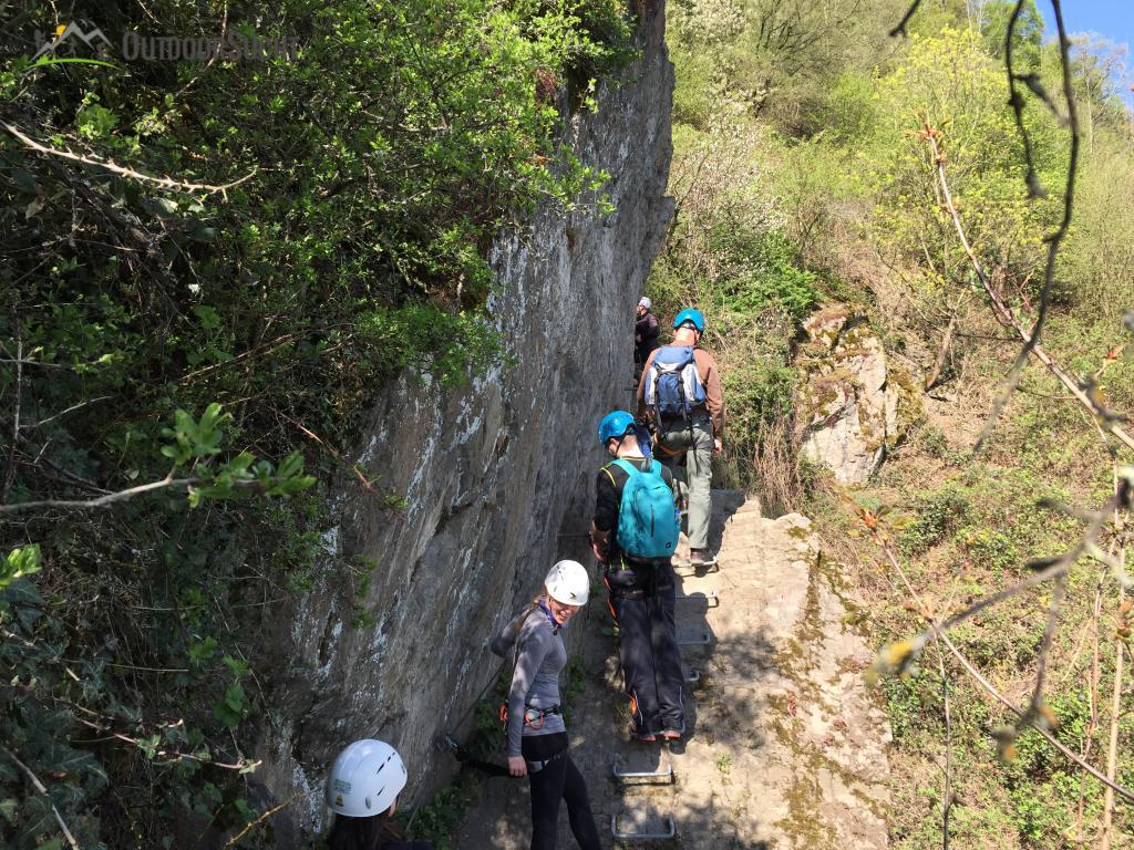 Klettersteig Rhein : Mittelrhein klettersteig boppard rhein kletter kurs