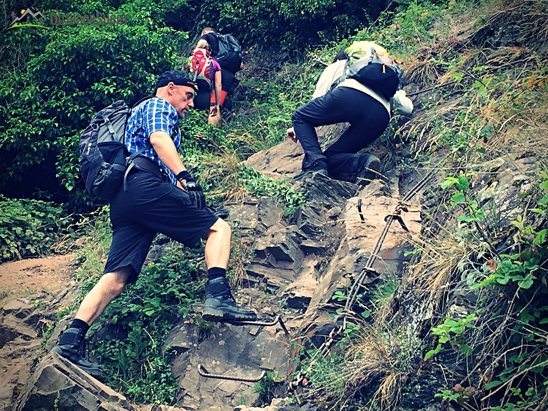 Klettersteig Calmont : Calmont klettersteig die moselsteig etappe mit nervenkitzel