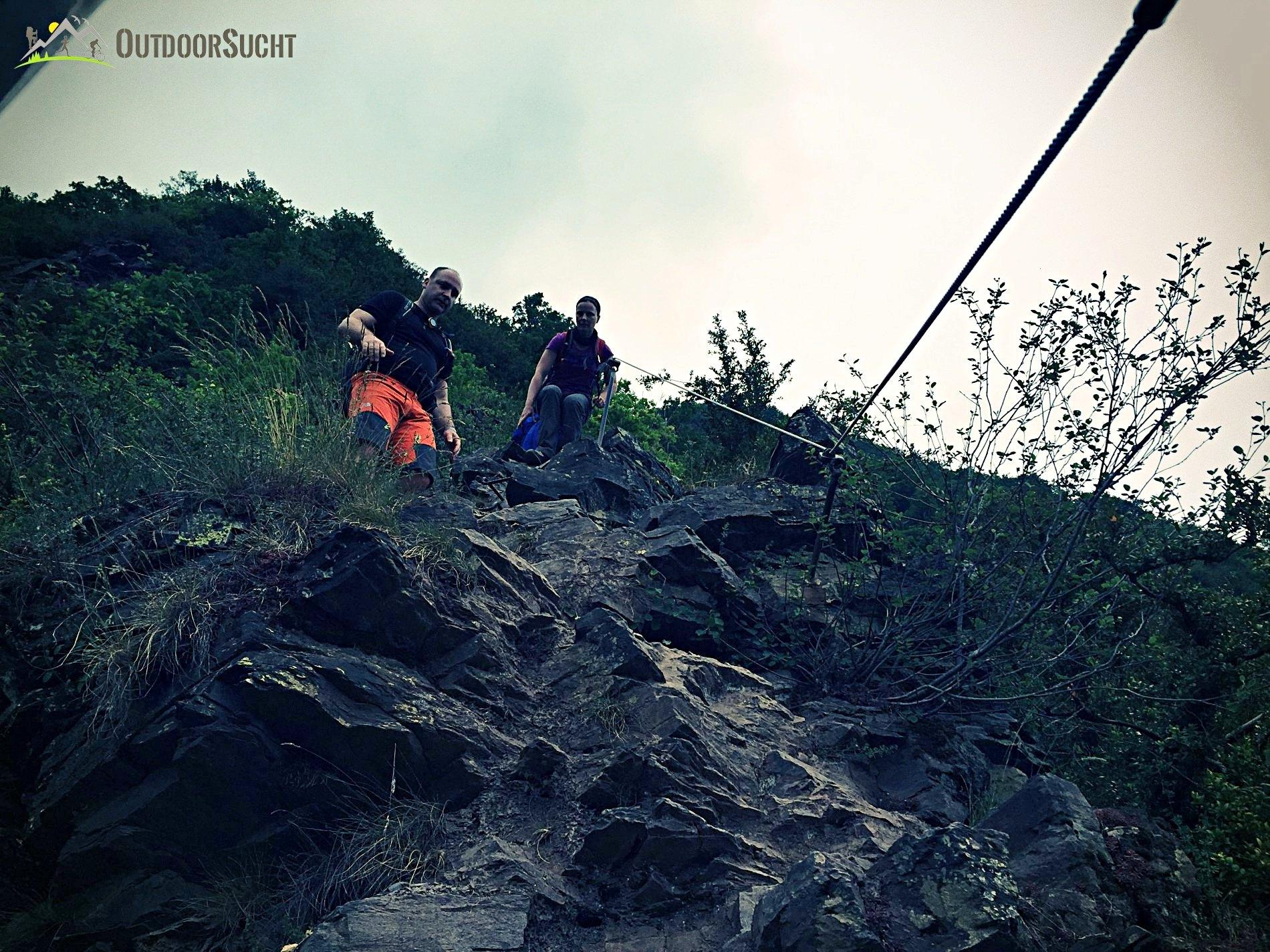 Klettersteig Mosel : Calmont klettersteig die moselsteig etappe mit nervenkitzel